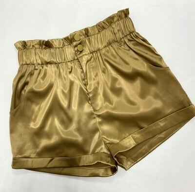Henny High Waisted Satin Shorts