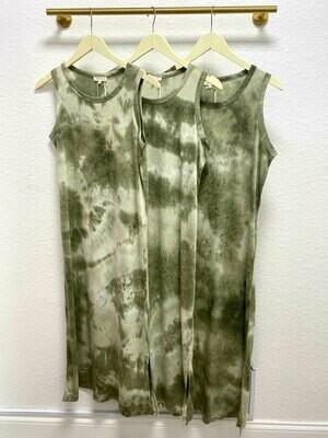 La Miel Tie-Dye Side Slit Dress