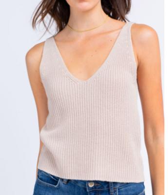 Le Lis V-Neck Sweater Tank