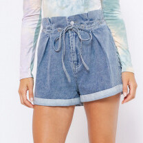 Le Lis Paper Bag Denim Shorts