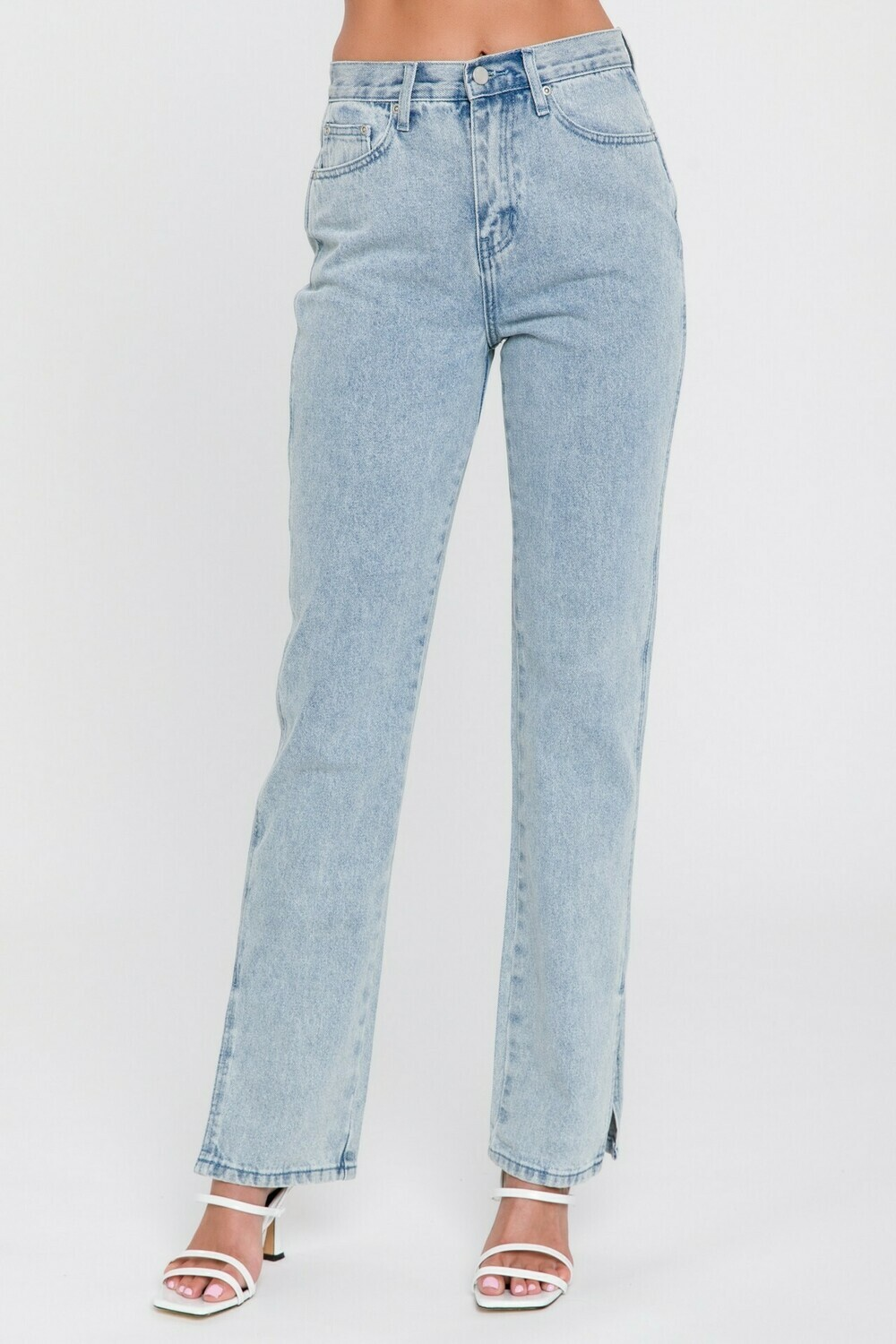 English Factory Straight Jeans with Slit