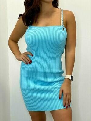 Dionne Chain Strap Ribbed Mini Dress