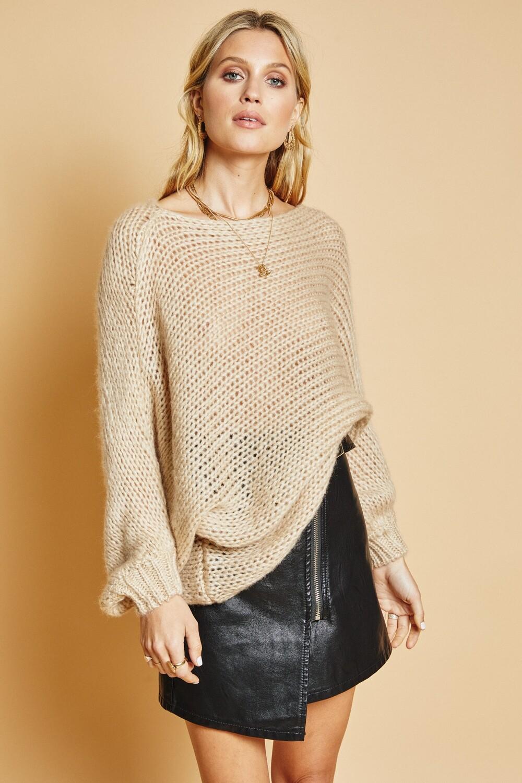 Sage The Label No Hard Feelings Sweater Beige