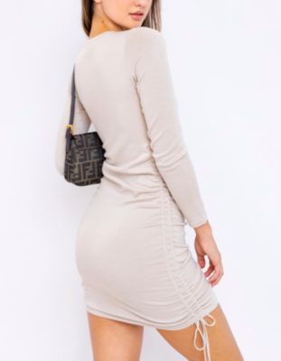 Le Lis Side Drawstring Dress Long Sleeve