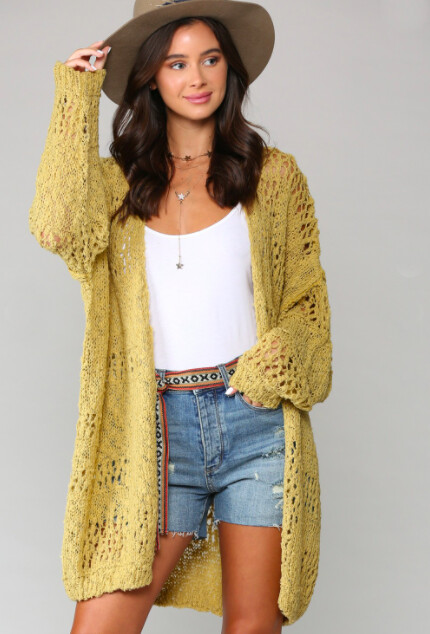 Loose Knit Oversized Cardigan