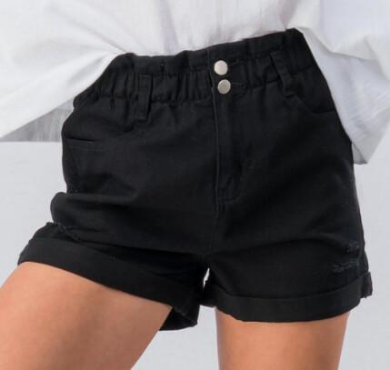 High Waisted Denim Shorts-