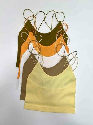 Double Strap Ribbed Cami