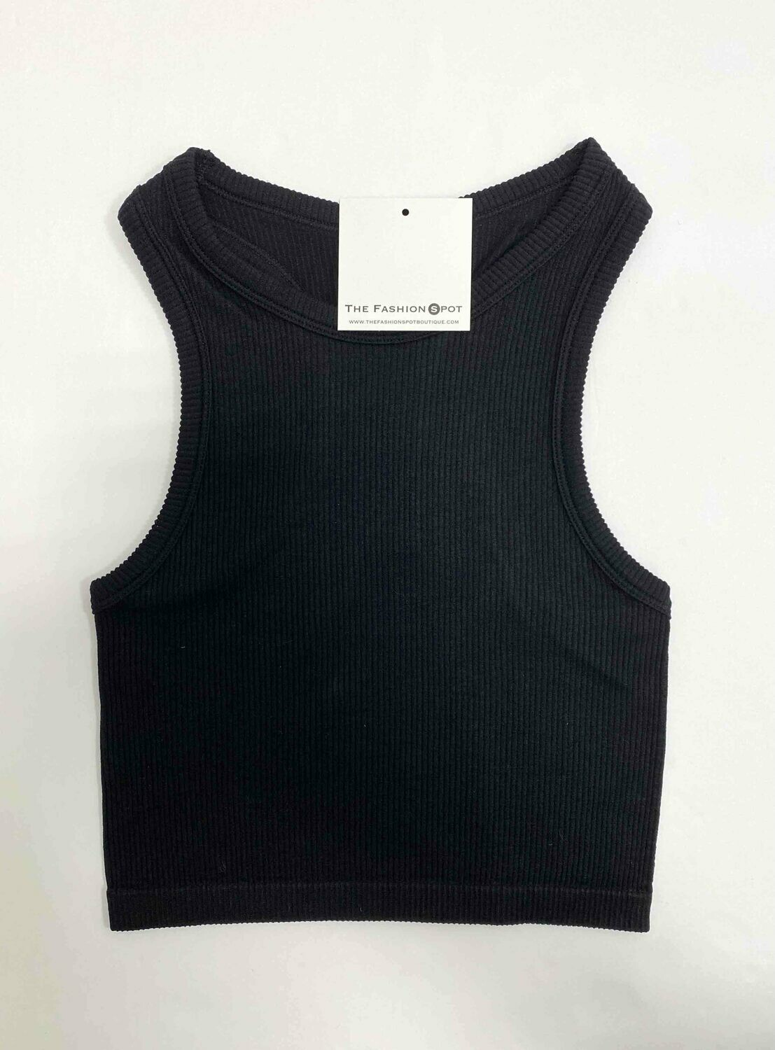 Racerback Ribbed Cropped Top