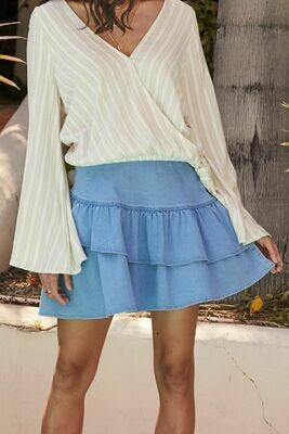 Go Get It Chambray Skirt
