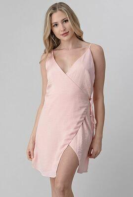 Astral Blush Wrap Dress