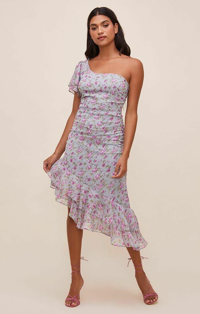 Lisa One Shoulder Floral Dress