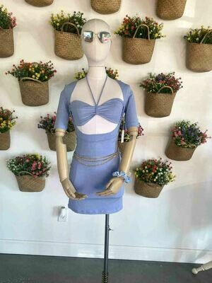 Tie-Up Bra Top Two Piece Dress