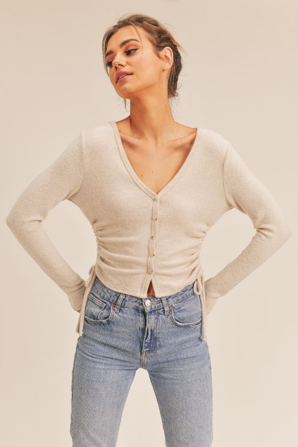 Further Beyond Button Down Cropped Top