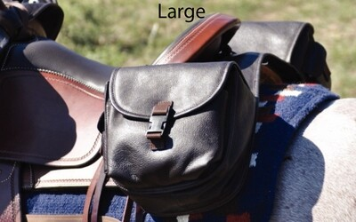 Leather Saddle Bags - Rear