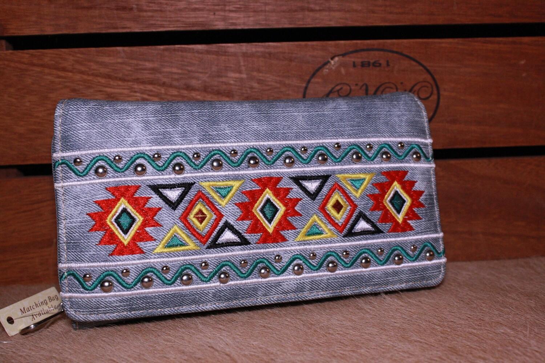 MW Jean Print Aztec Wallet
