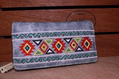 Montana W Jean Print Aztec Wallet
