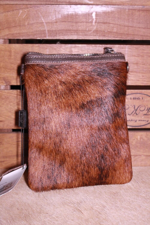 Montana West Cow Hide Clutch/Shoulder Bag