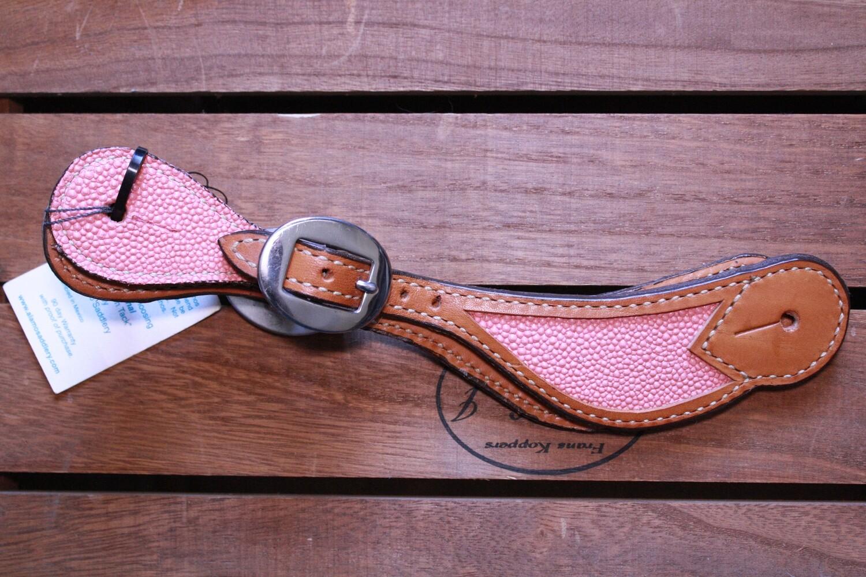 Pink Textured Spur Straps-Sm