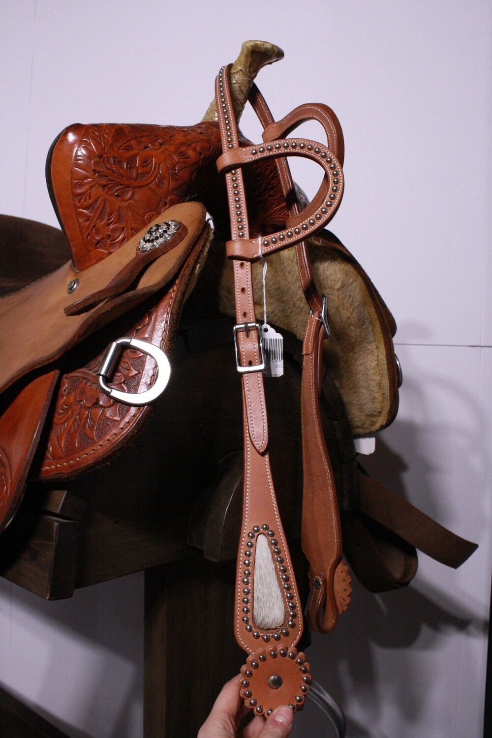 Western Star Double Ear HS with Cowhide/Studs/Chicago Screws