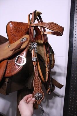 Reinsman Six Shooter Tooled Browband HS