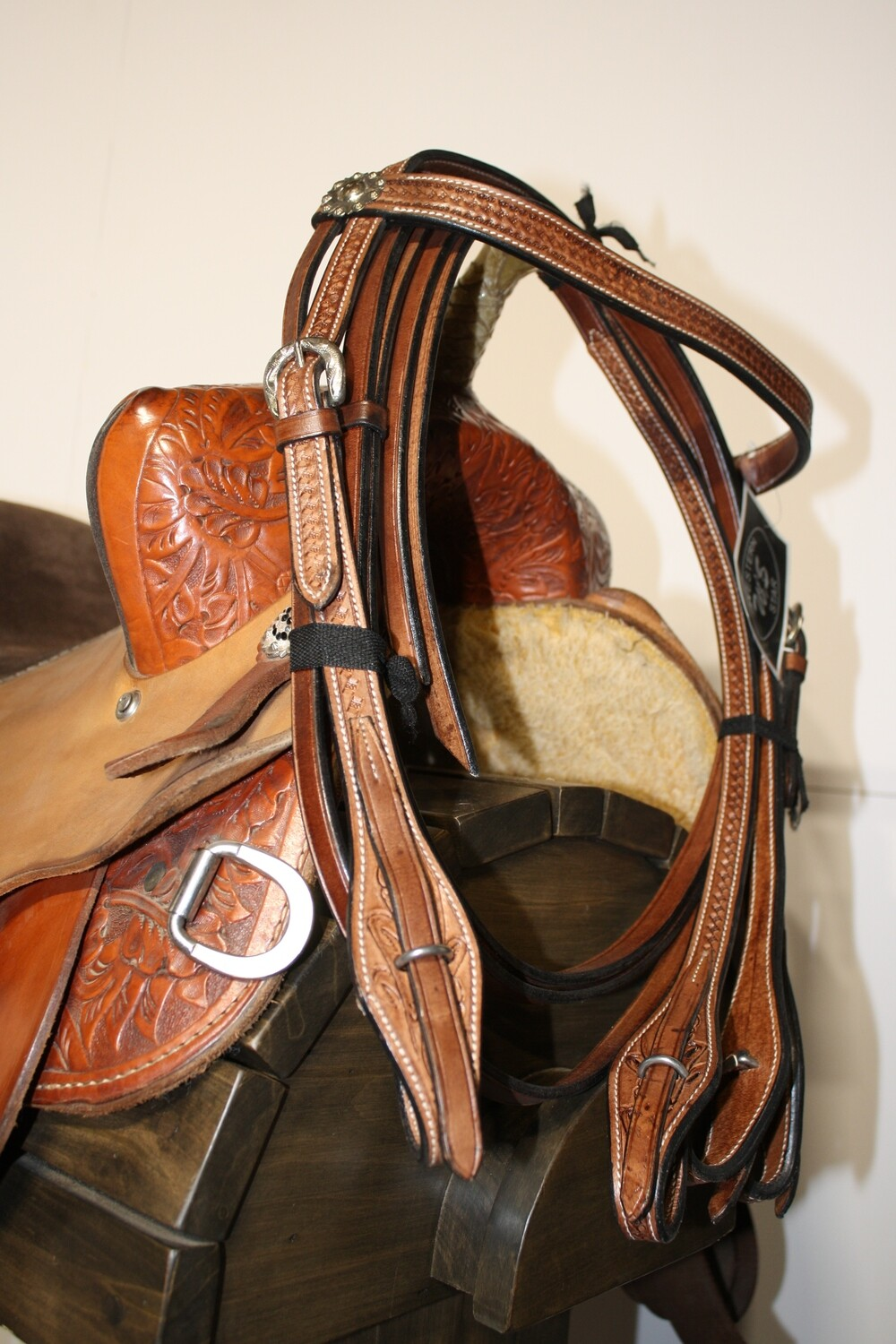Western Star Browband Brown HS with Reins FULL