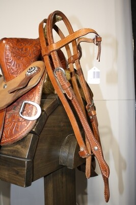 HeadStall with Futurity Knot Browband-Chicago Screws