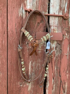 Chestnut Futurity Knot Brwbnd HS With Rawhide/Chicago Screws