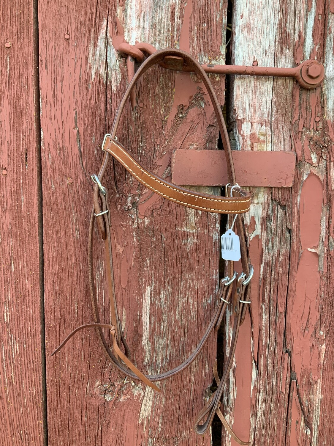 Headstall Browband Chestnut with Ties