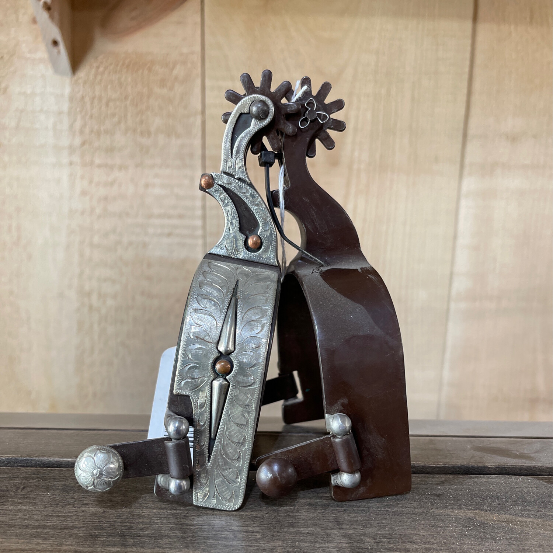 Antiqued Silver Spurs