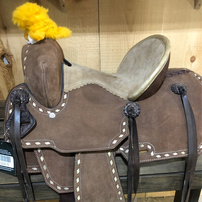 """Country Legend Little Buck Saddle 12"""" Tan"""