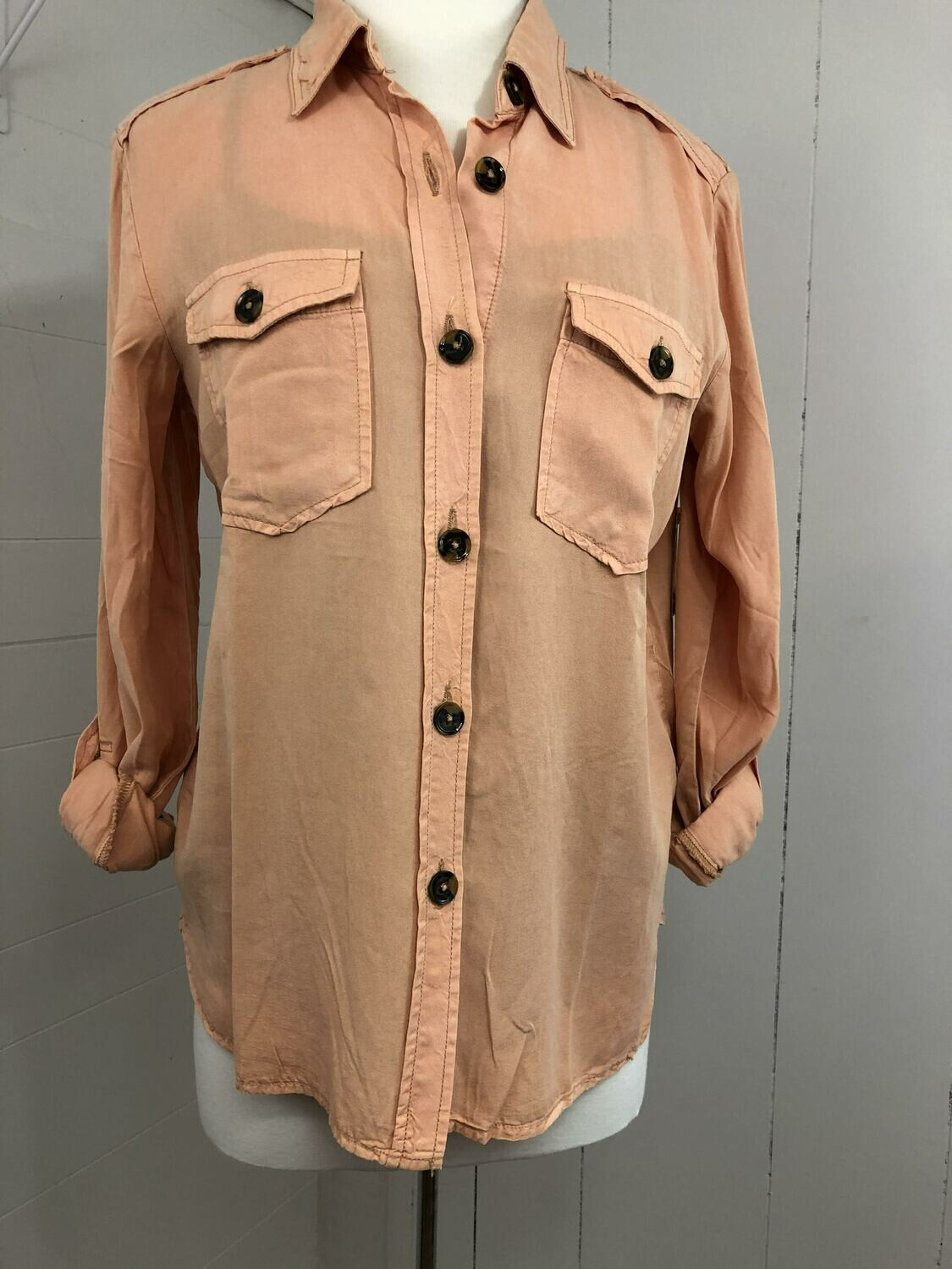 Just Peachy Button Up