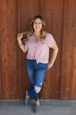 Country Lace Button Down