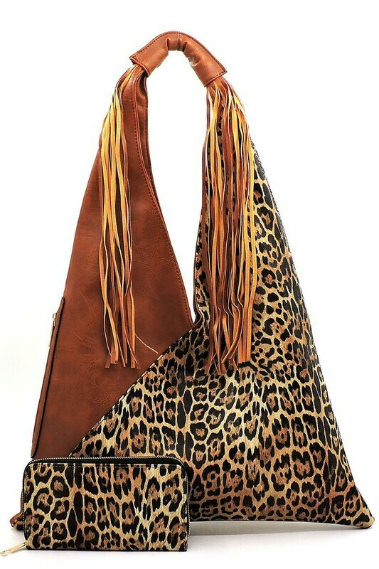 Leopard Print Purse and Wallet