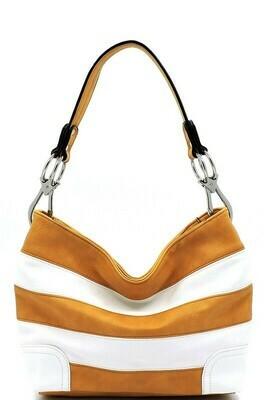 Striped Yellow Shoulder Bag