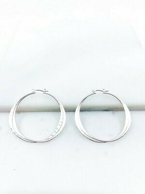 Double Linked Hoop Earrings