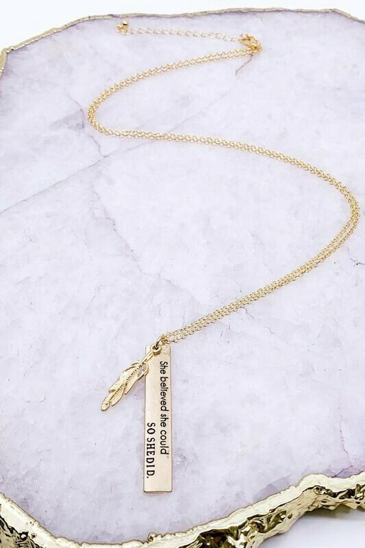 Scripture Bar Necklace