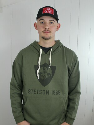 Olive Green Fleece Sweatshirt