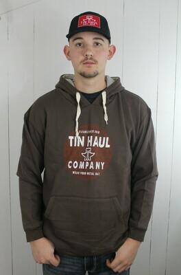 Brown Fleece Hooded Sweatshirt
