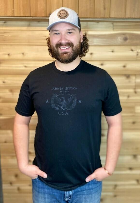 Black Eagle Print T-Shirt