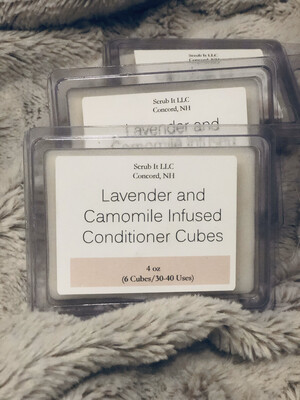 Conditioner Bar Cubes (infused with Chamomile and Lavender)
