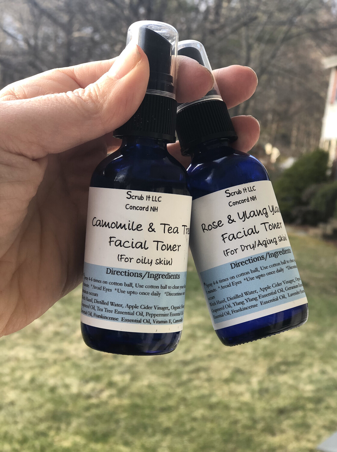 Camomile Infused Facial Toner For Oily Skin