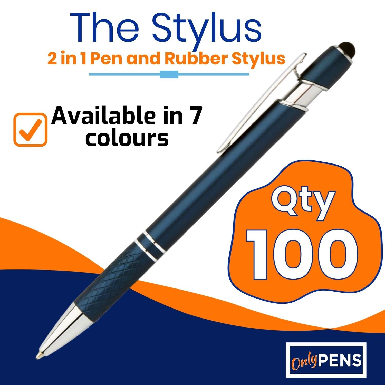 100 x STYLUS 2 in 1 PEN