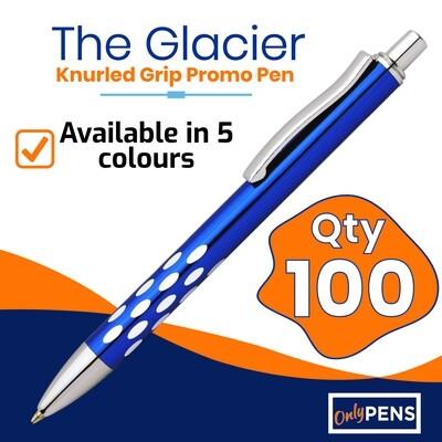100 x THE GLACIER PROMO PENS