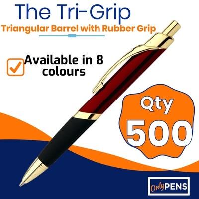 500 x TRI-GRIP METAL PENS