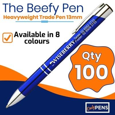100 x THE BEEFY TRADE PEN (13mm Barrel)
