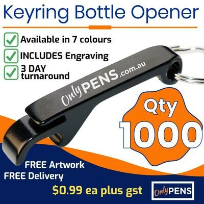 1000 x KEYRING BOTTLE OPENERS