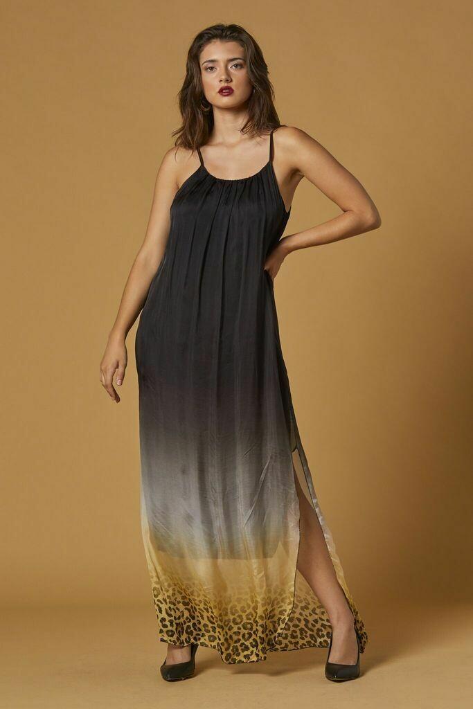 Scandal Black Leopard Bebe Dress