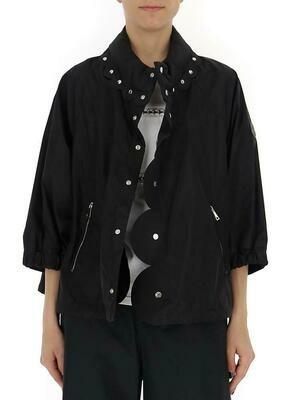 Moncler Women's NylonX Noir 6 Osmium Studded Jacket
