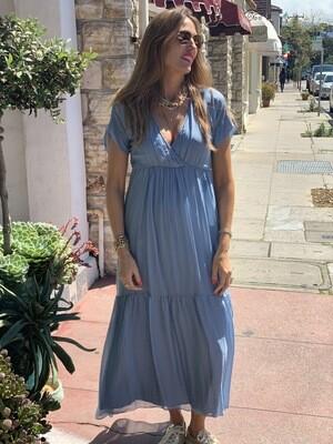Scandal Aruba Dusty Blue Dress