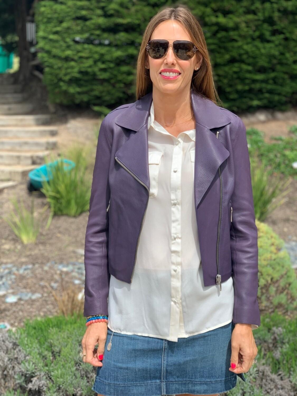 LTH JKT Purple Leather Jacket Small